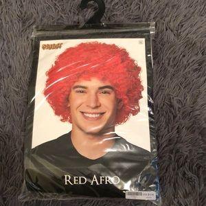 Orange clown wig